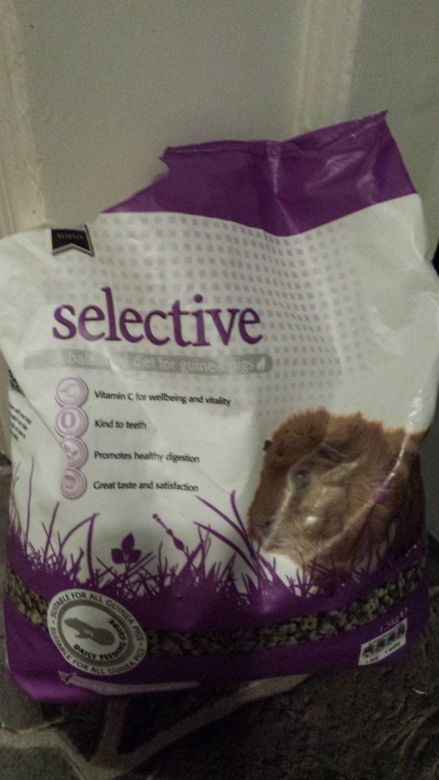 Selective - marsvins pellets - Oslo  - Nesten full pose med marsvins pellets gis bort. Denne sorten falt ikke våre marsvin i smak da de er vant til en annen sort. - Oslo