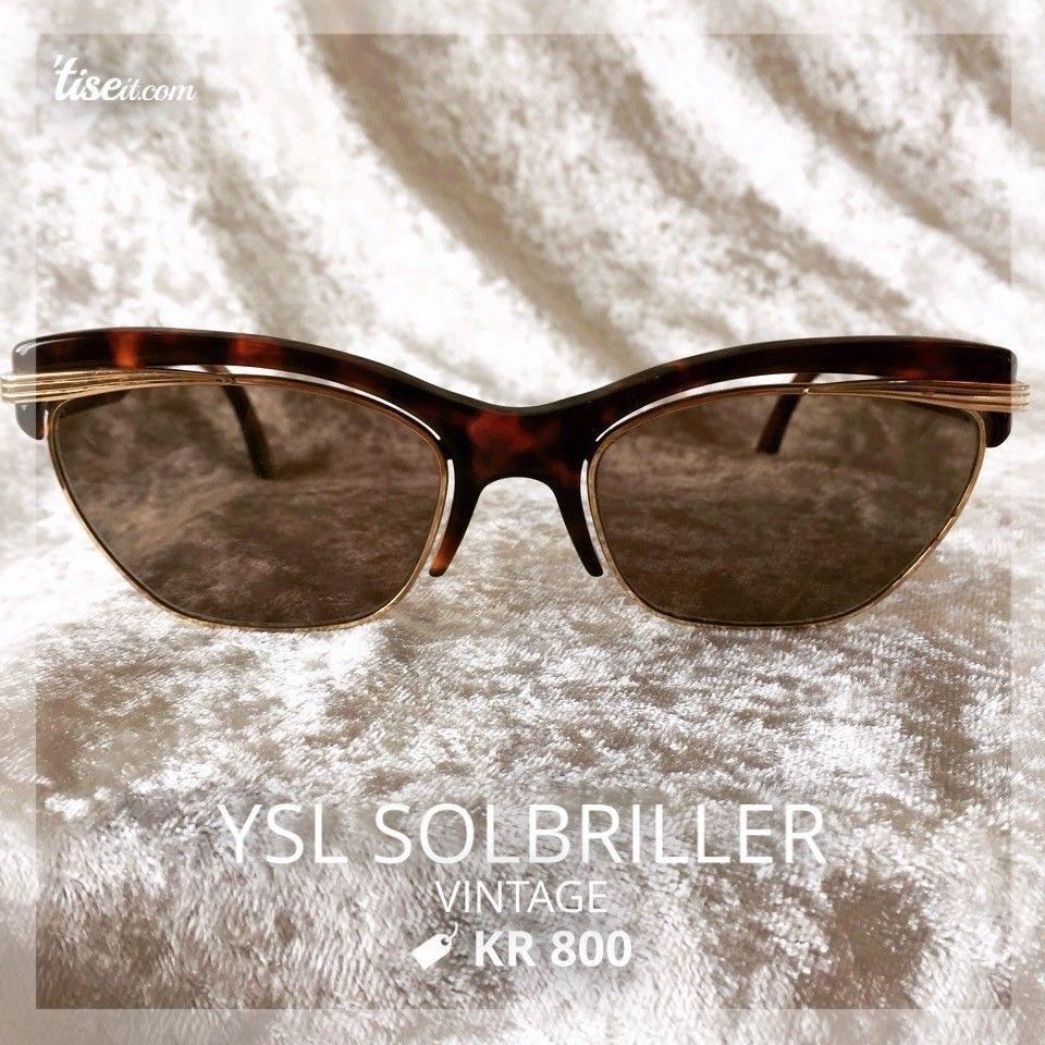 YSL solbriller - Kristiansand S  - Solbriller fra YSL kjøpt i Dubai i 1995-96. Litt riper i glasset som vises på bilde nr. 3. Tilbehør medfølger dessverre ikke. Kan sendes mot at kjøper betaler frakt. - Kristiansand S
