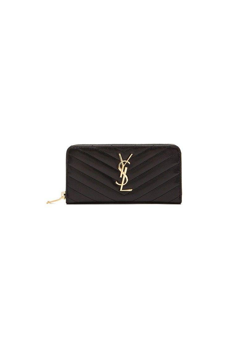 YSL Yves Saint Laurent gold zip monogram lommebok til salgs - Hundvåg  - Helt ny og uåpnet YSL gull Monogram logo lommebok til salgs.  Ligger uåpnet i gaveinnpakning fra Yves Saint Laurent butikk - Hundvåg