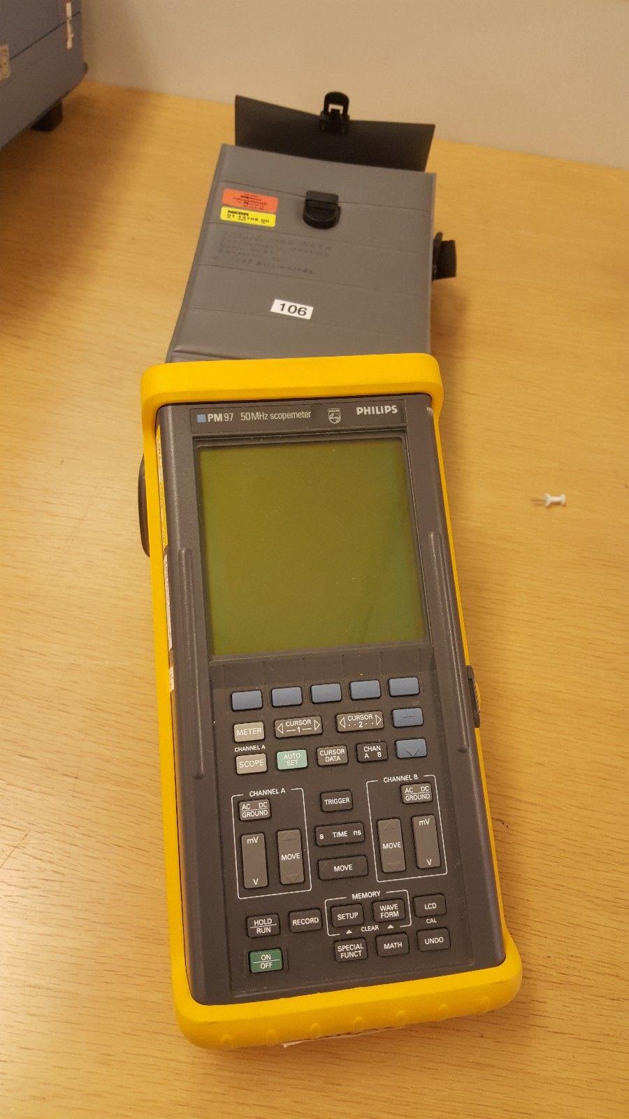 Philips (fluke) Scopemeter PM97 - Kokstad  - 50 MHz håndhold oscilloscope.  NB: uten batteribakke og lader. - Kokstad