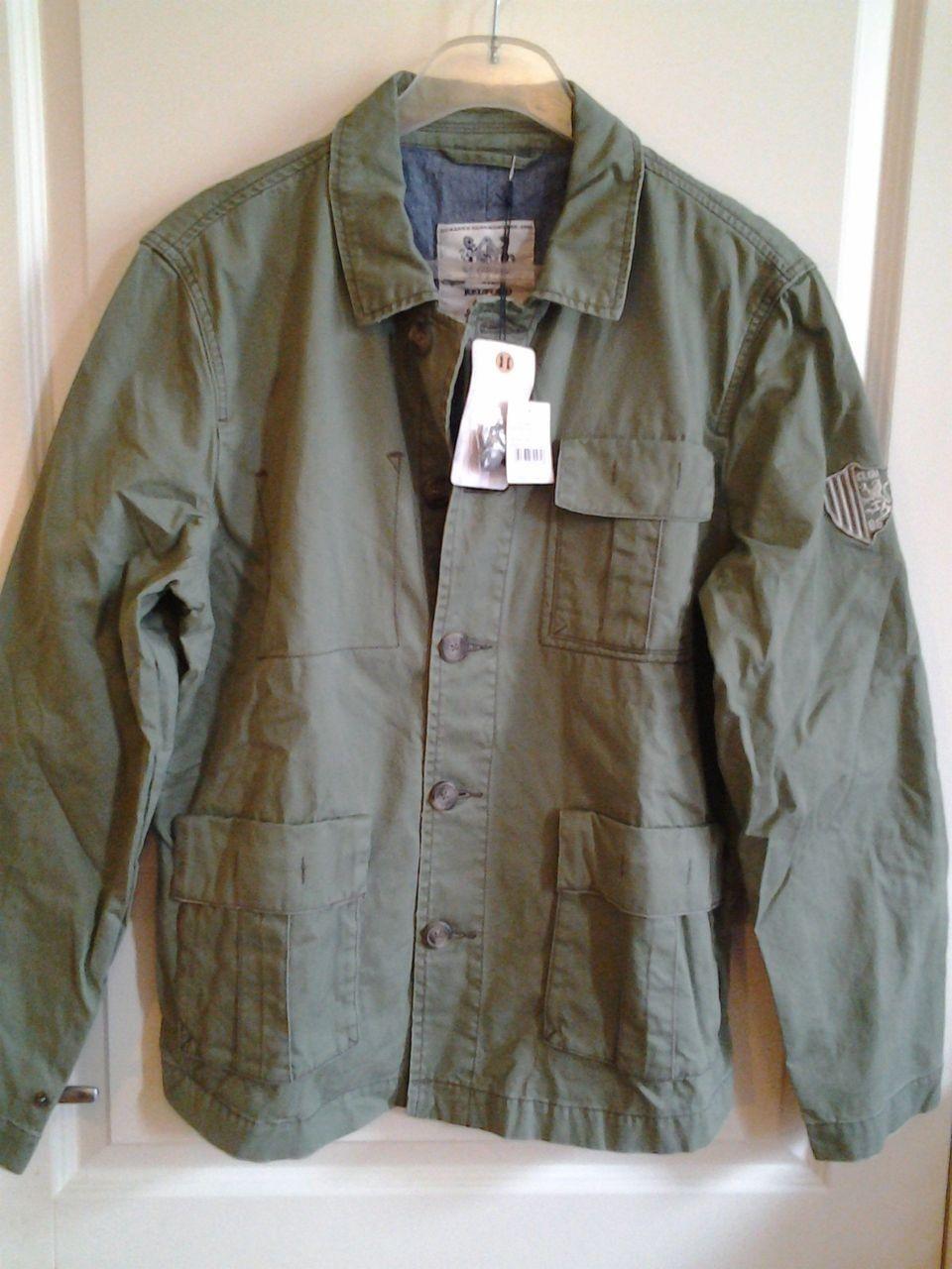 Kul Jakke Amsterdam Jacket. Oliven Army Green Militær