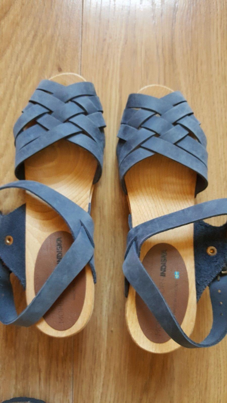 4b5a2ab7 Kule tresko / sandaler. Blå LÆR / SKINN. | FINN.no