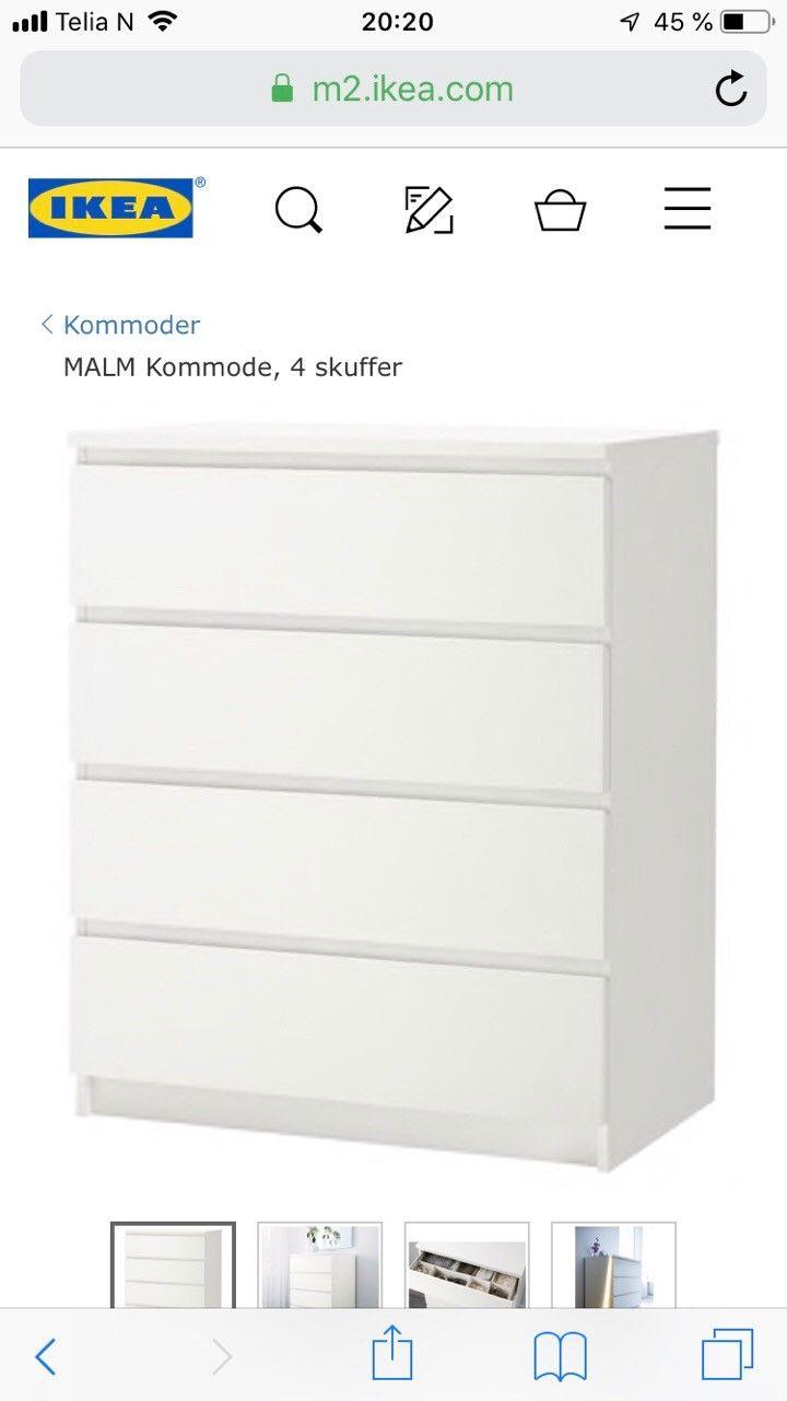 ikea malm kommode | finn.no