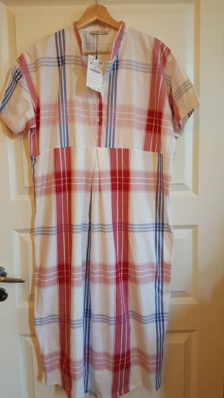 a0cc20c1 Flott 100% Bomull kjole. Flerfarget Rutet. | FINN.no