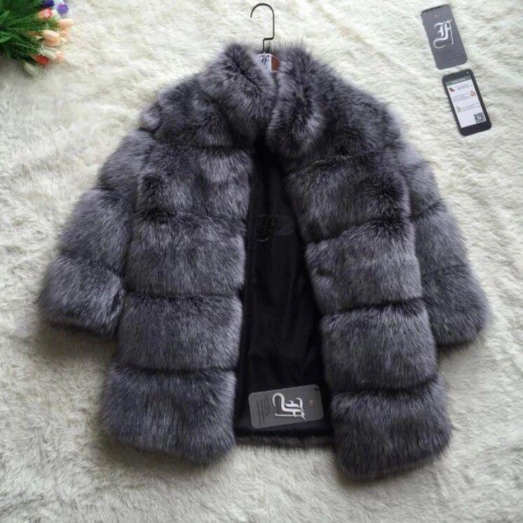 Jakke med pels(falsk)krage | FINN.no