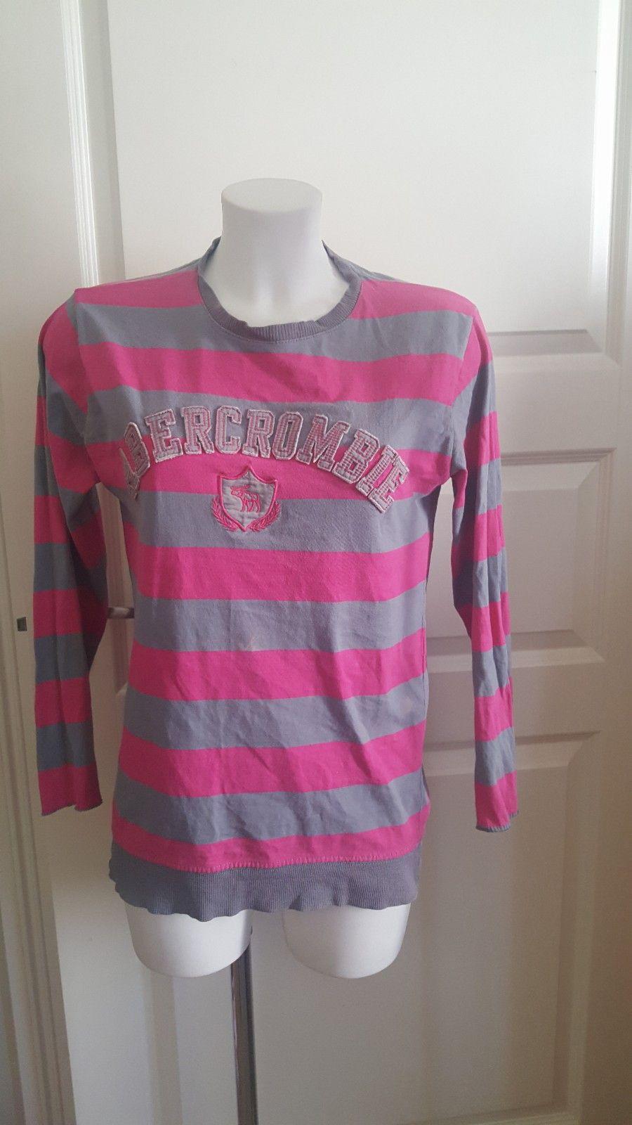 Vintage stripete Rosa Grå T skjorte. TYKT stoff. | FINN.no