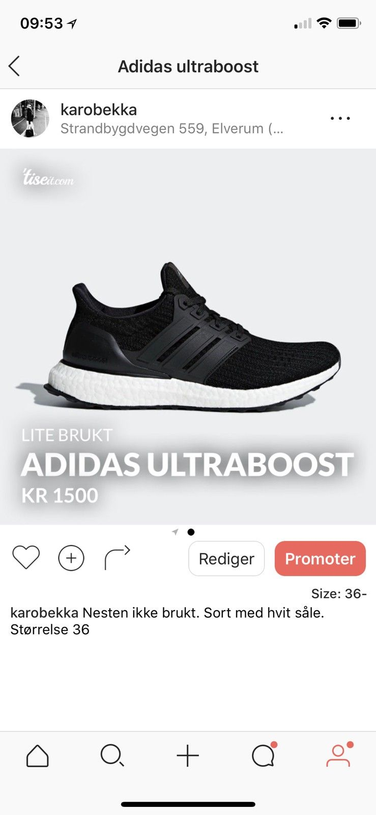 Adidas ultraboost | FINN.no