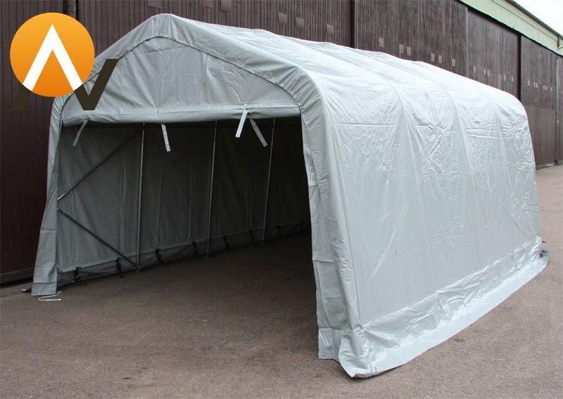 Lagertelt garasjetelt båttelt 3,6x7,2m 300gm² PE duk