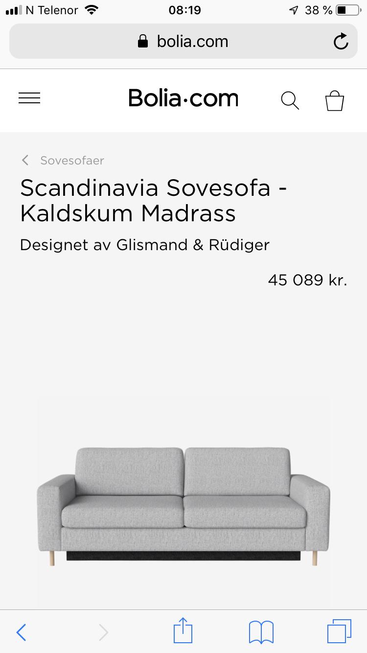 Bolia Scandinavia Sovesofa | FINN.no