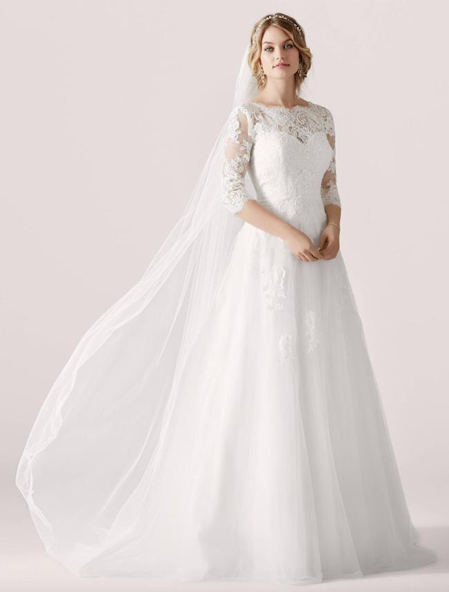 1955864f Blonde brudekjole med lange armer LILLY brudekjole. | FINN.no