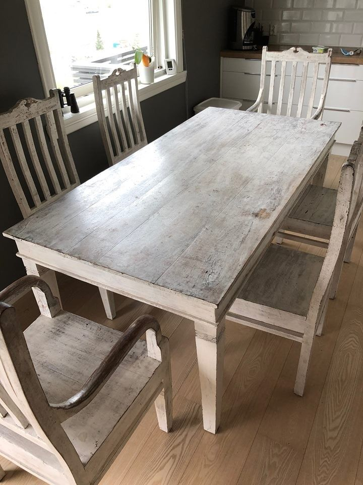 Opprinnelig veldig flott bord med stoler selges. pent gammelt design. | FINN.no LU-49