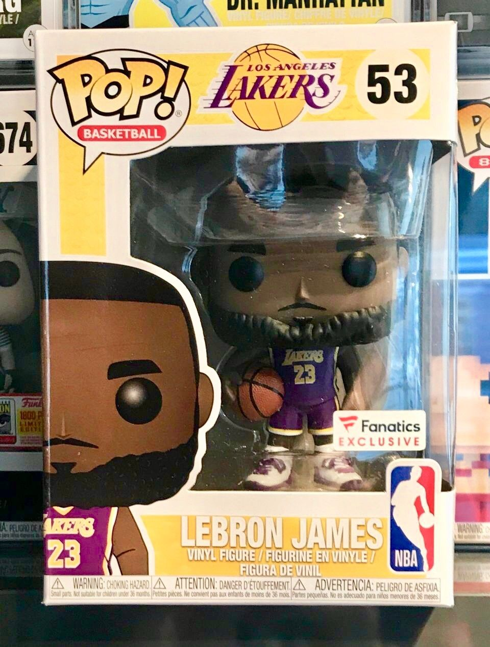finest selection b7556 6776c Funko Pop! Basketball Purple Jersey Lebron James | LA Lakers ...