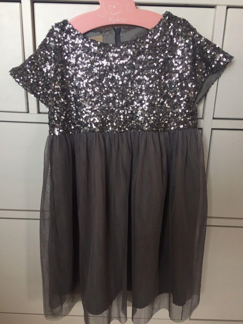 4a9d6323 Memini kjole med paljetter str 122 og strømpebukse | FINN.no