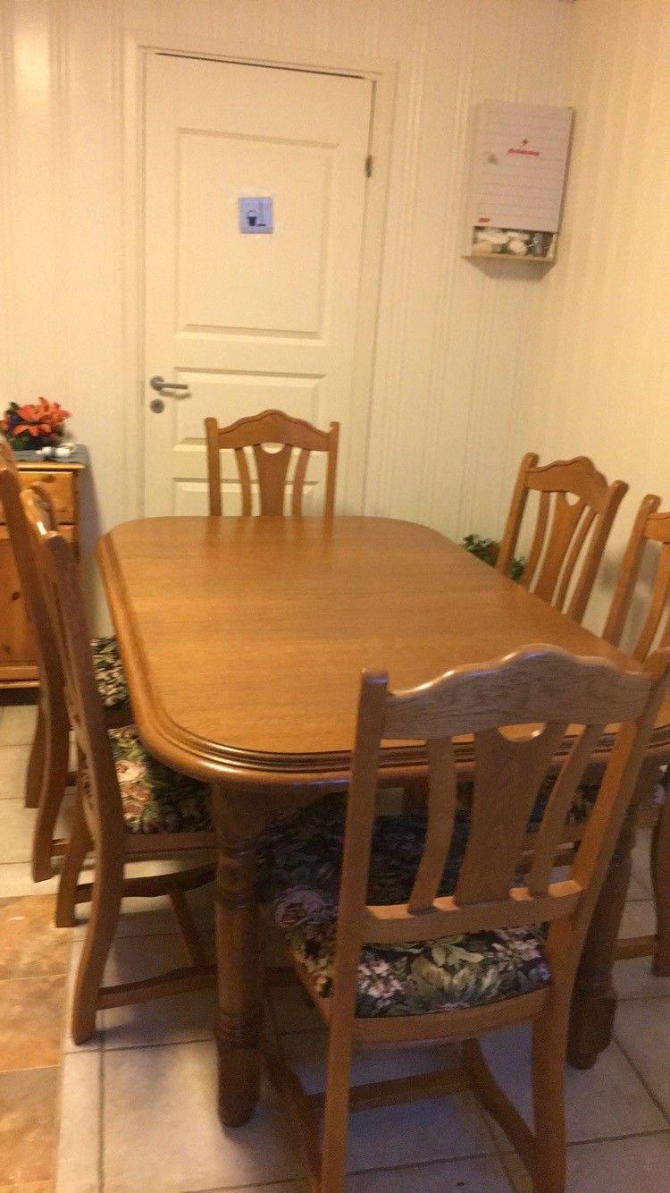Antikk Spisebord Med 6 Stoler Finn No