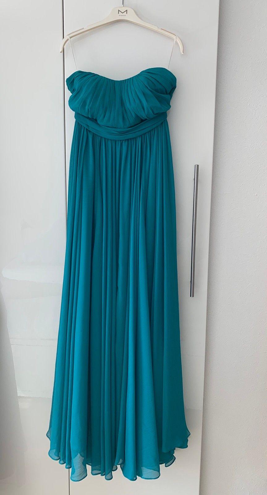 Grønn lang kjole str. 40 | FINN.no