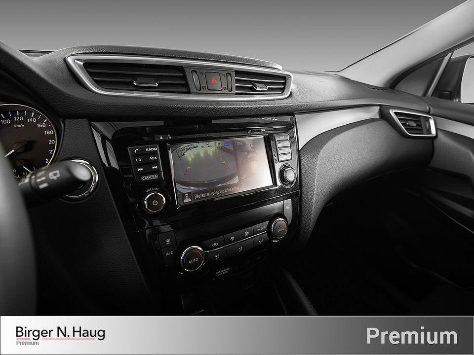 Stor skjerm som gir fin oversikt ved bruk av navigasjon eller 360-kameraer.