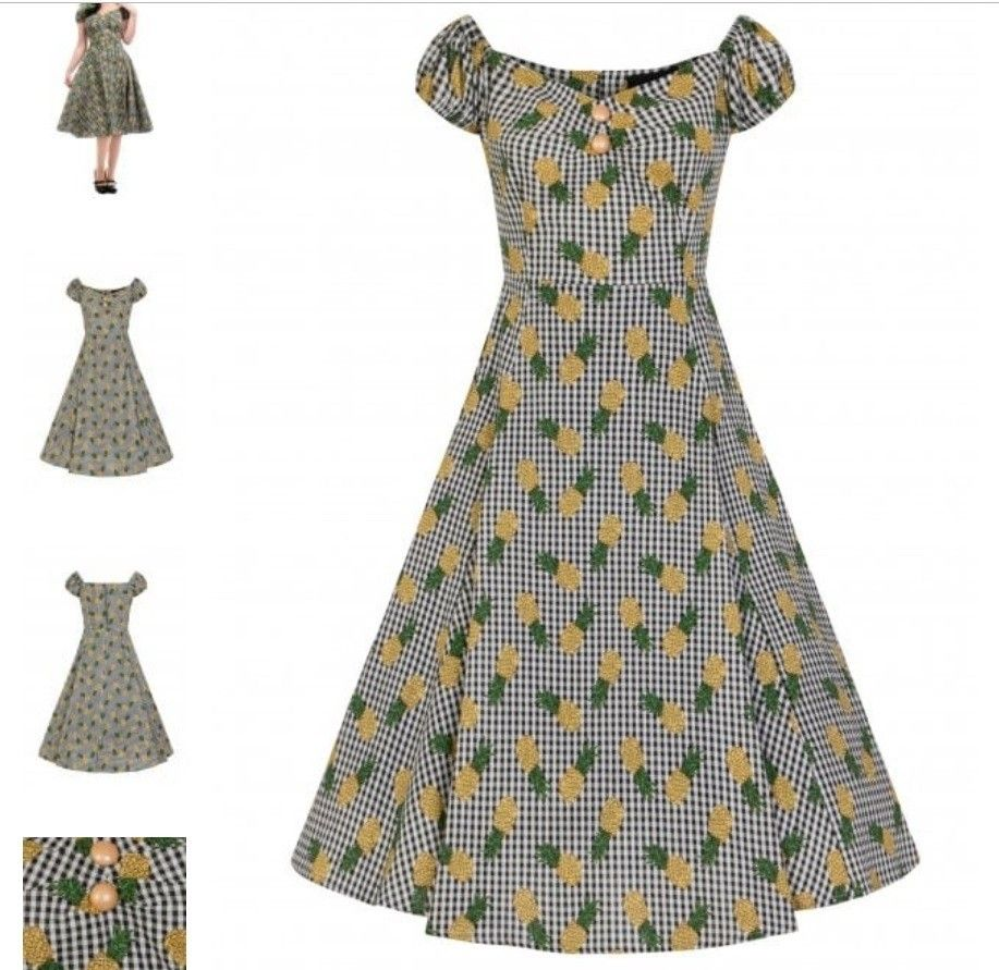 Kjole i rockabilly stil, 1950 talls kjole, pin up | FINN.no