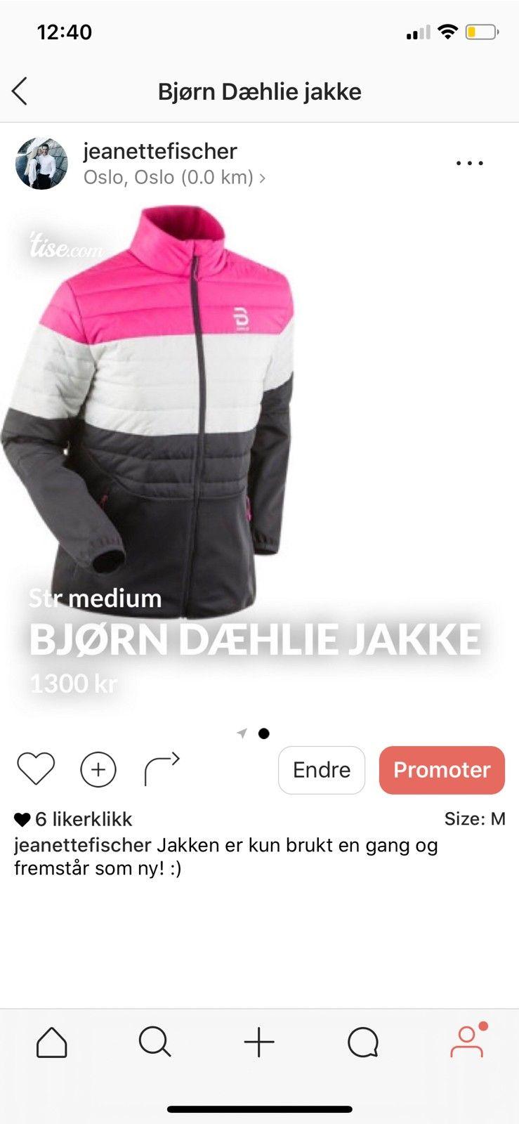 NY Bjørn Dæhlie jakke   FINN.no