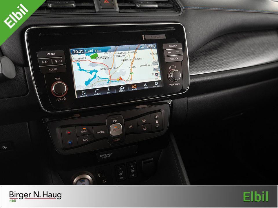 Stor skjerm byr på fine kartbilder. I navigasjonen kan du finne oversikt over nærliggende ladepunkter.