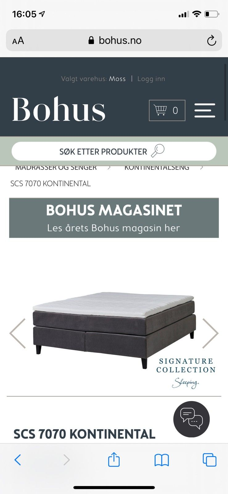 Picture of: Nesten Ubrukt Signature Collection Sleeping Kontinental Seng Selges Finn No