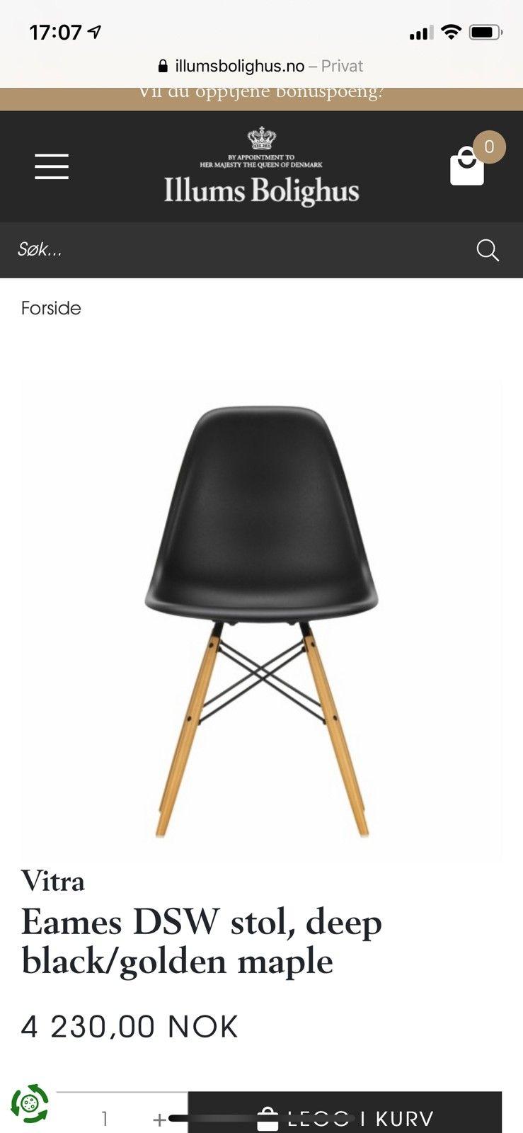 Eames DSW sort ønskes kjøpt | FINN.no
