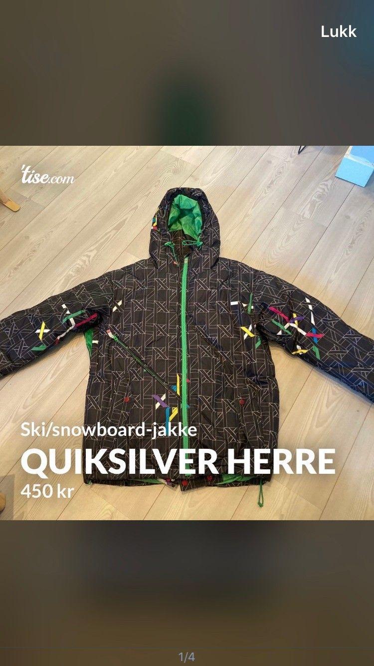 Quiksilver vinterjakke   FINN.no