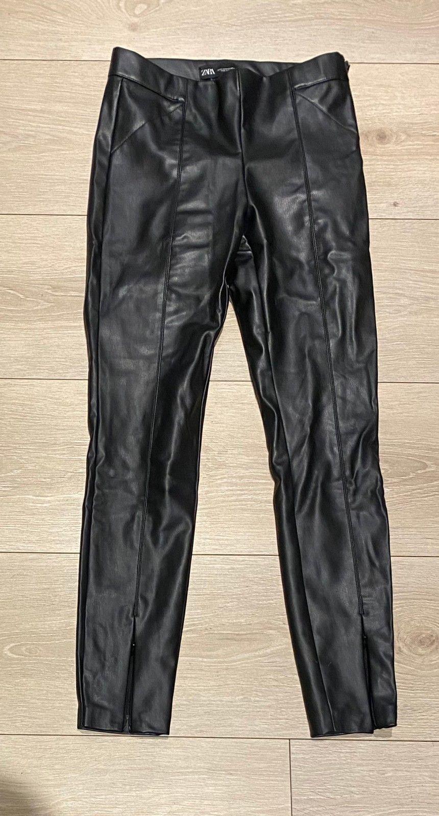 Skinn bukse fra Zara str S, ubrukt   FINN.no