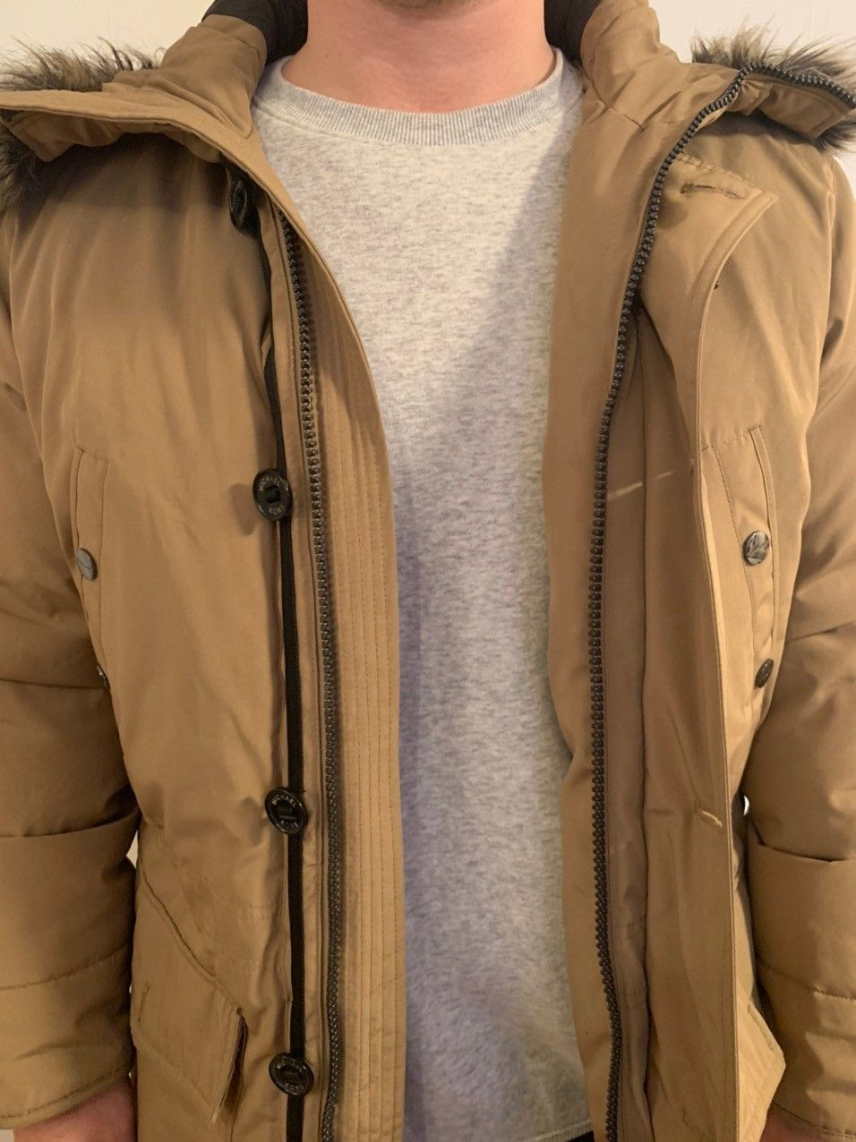 Jean Paul herre vår høst vinter jakke i khaki selges