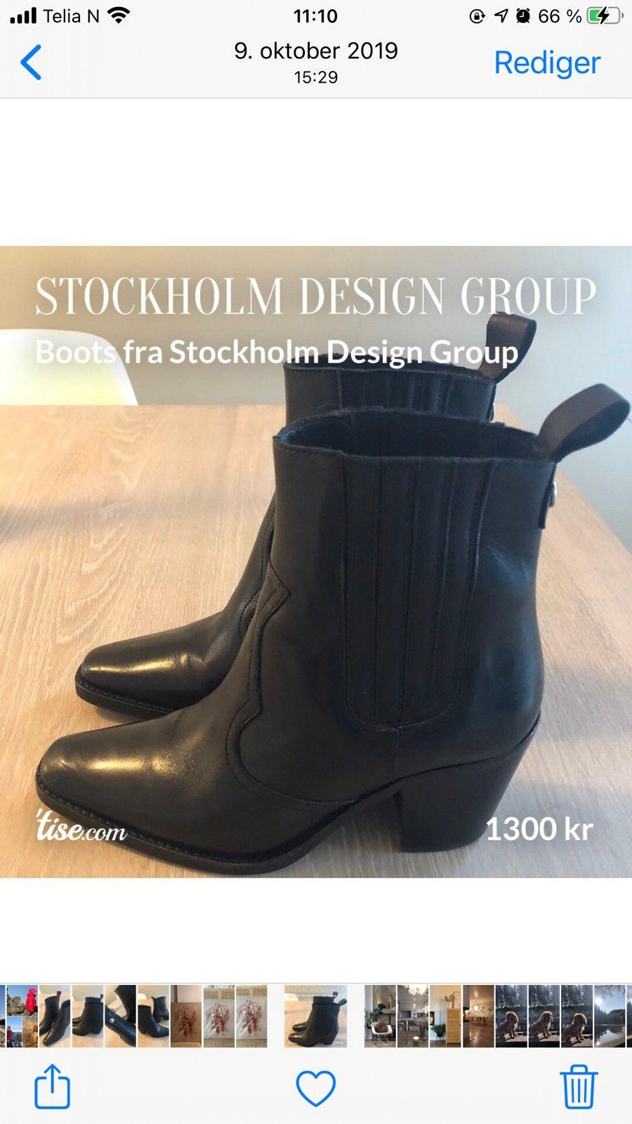 Stockholm støvlett i skinn | FINN.no