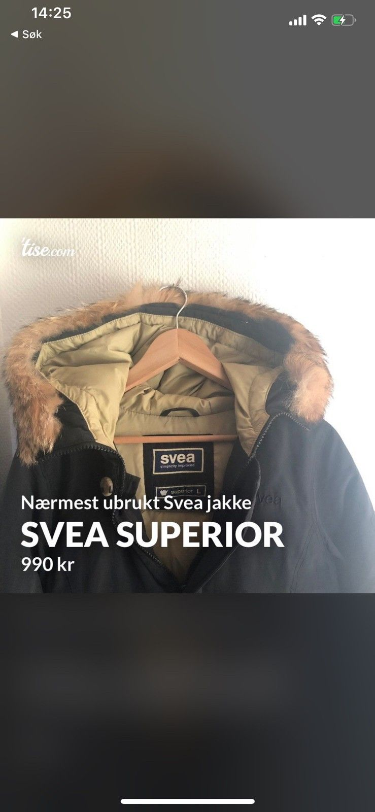 Pent brukt Svea Superior med ekte pels   FINN.no