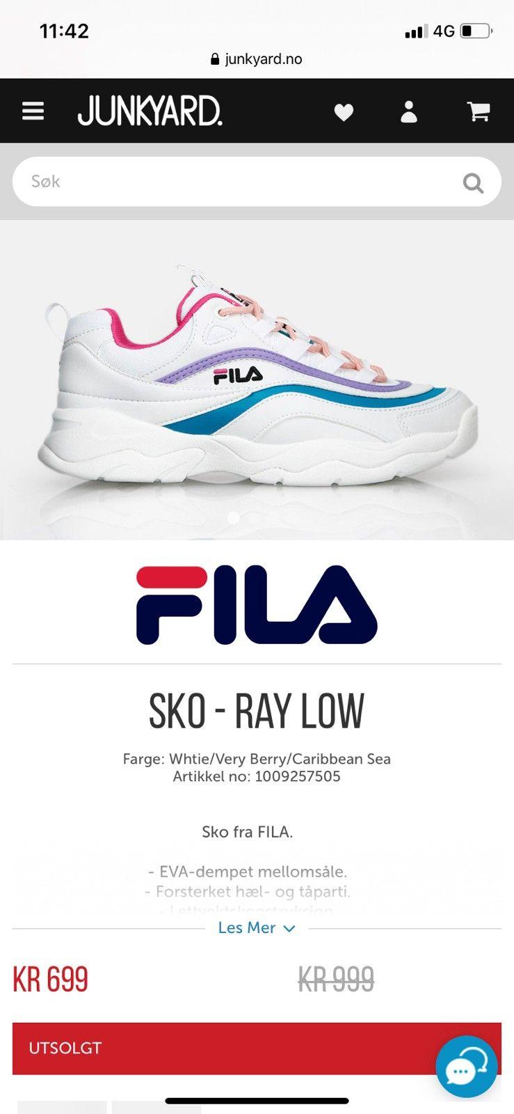 Fila joggesko 37 | FINN.no