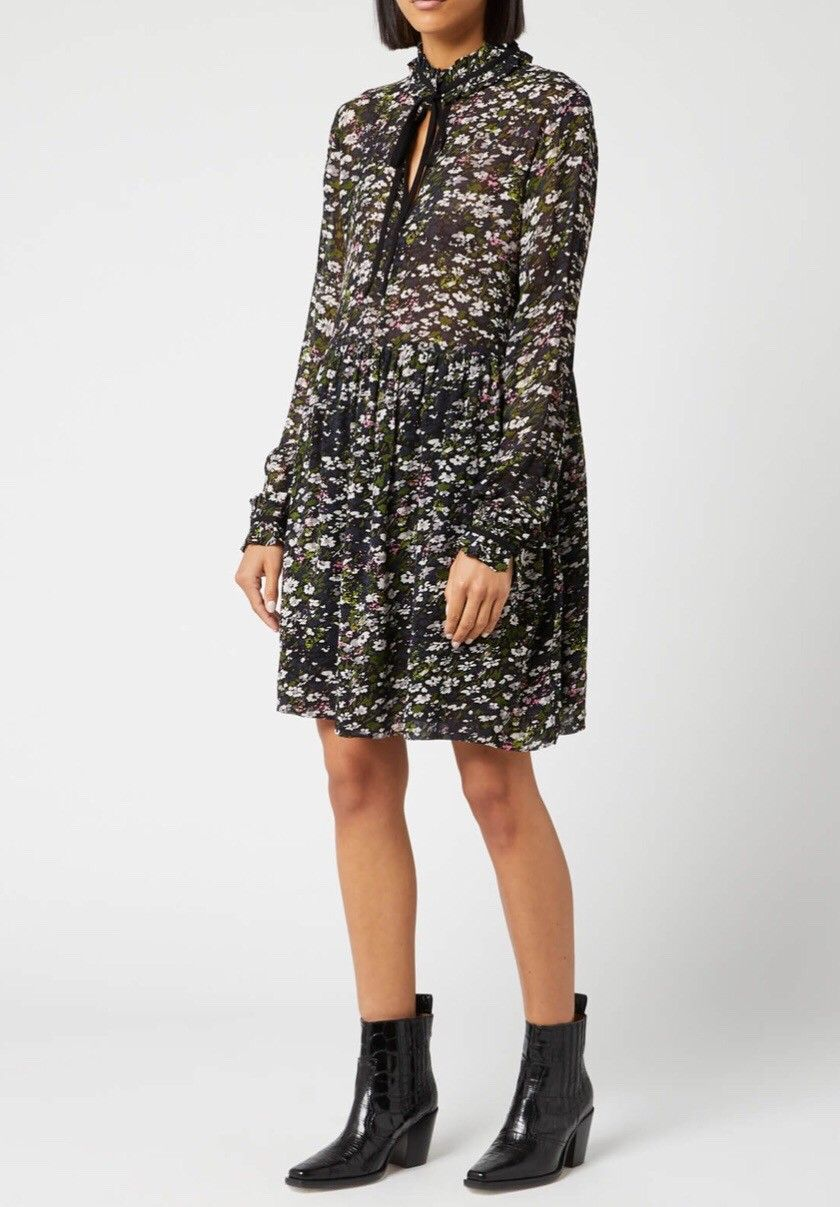 printed georgette kjole