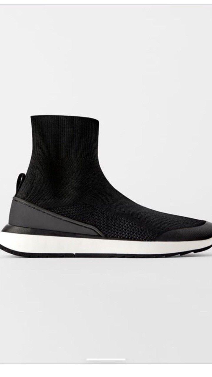 Nye Zara joggesko utformet som en sokk str. 38 | FINN.no