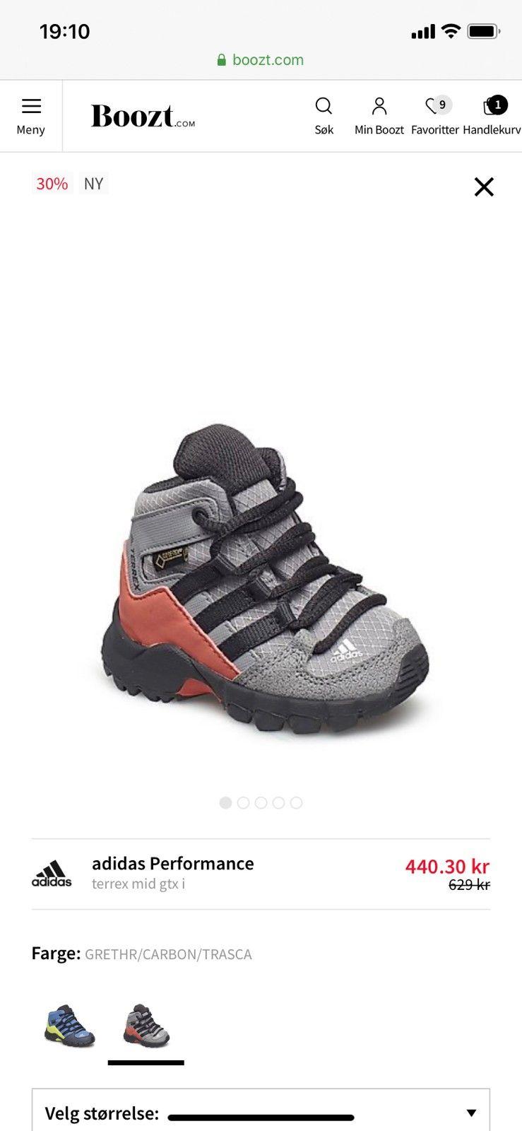 Adidas Gore tex sko til barn str. 24. | FINN.no