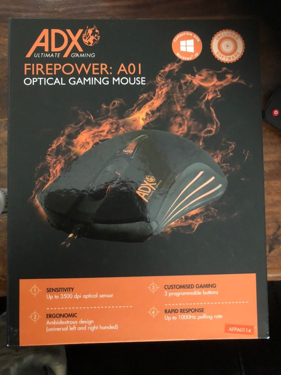 ADX Firepower A01 optisk gaming mus | FINN.no