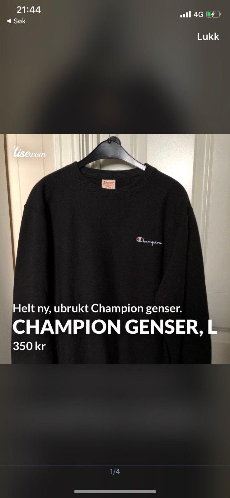 Champions Reverse Weave Genser   FINN.no