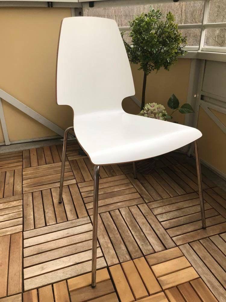 4 stk hvite stoler selges | FINN.no
