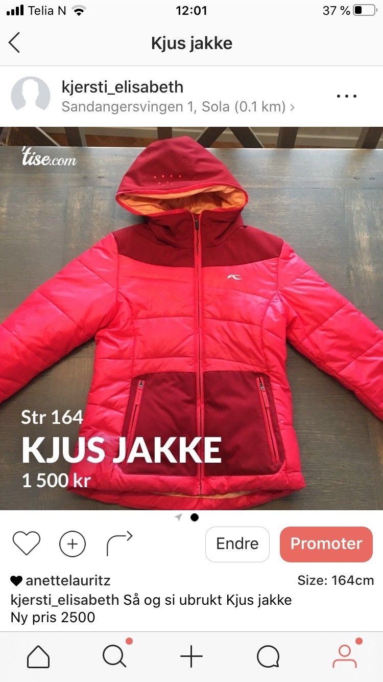 Kjus jakke, som ny selges! | FINN.no