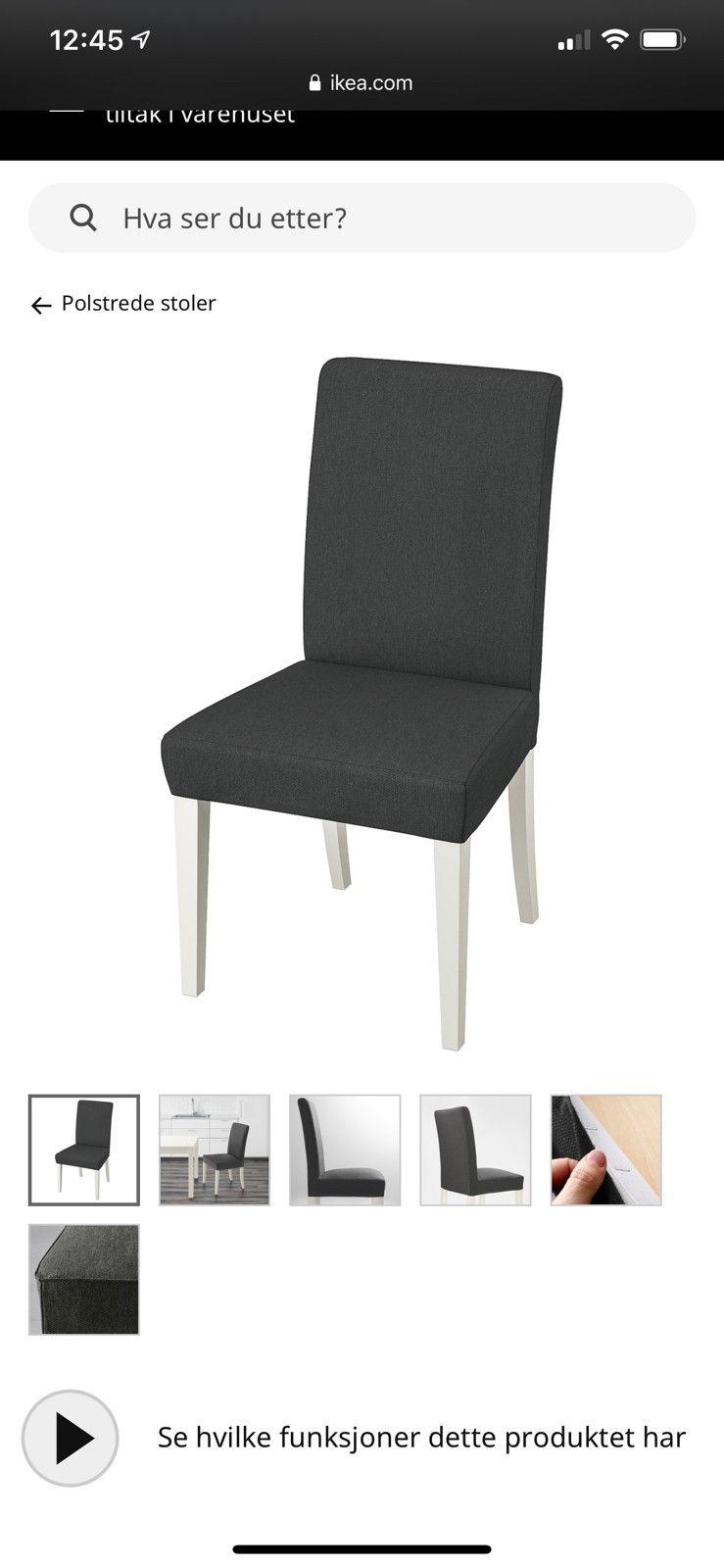 Henriksdal stol med armlener. | FINN.no
