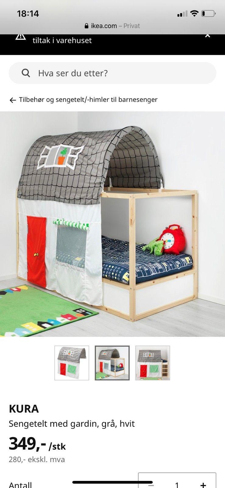 IKEA sengetelt med gardin KURA reservert | FINN.no