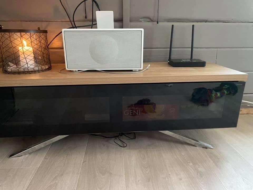 DP WOODEN TV STAND LIGHT OAK 120CM Power.no