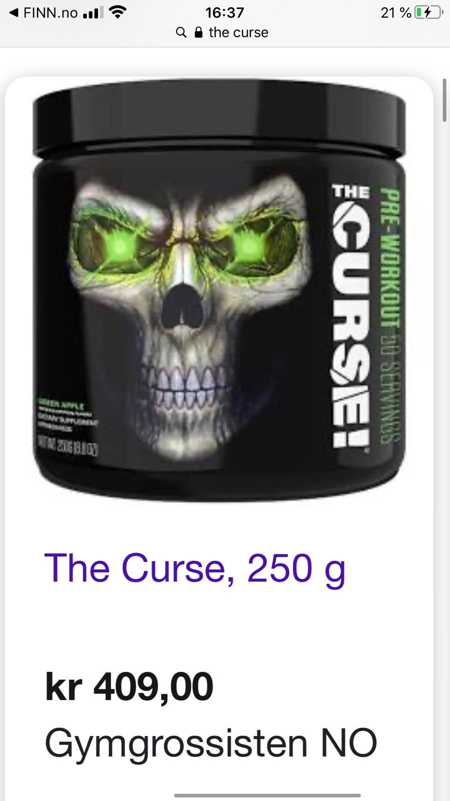 the curse gymgrossisten