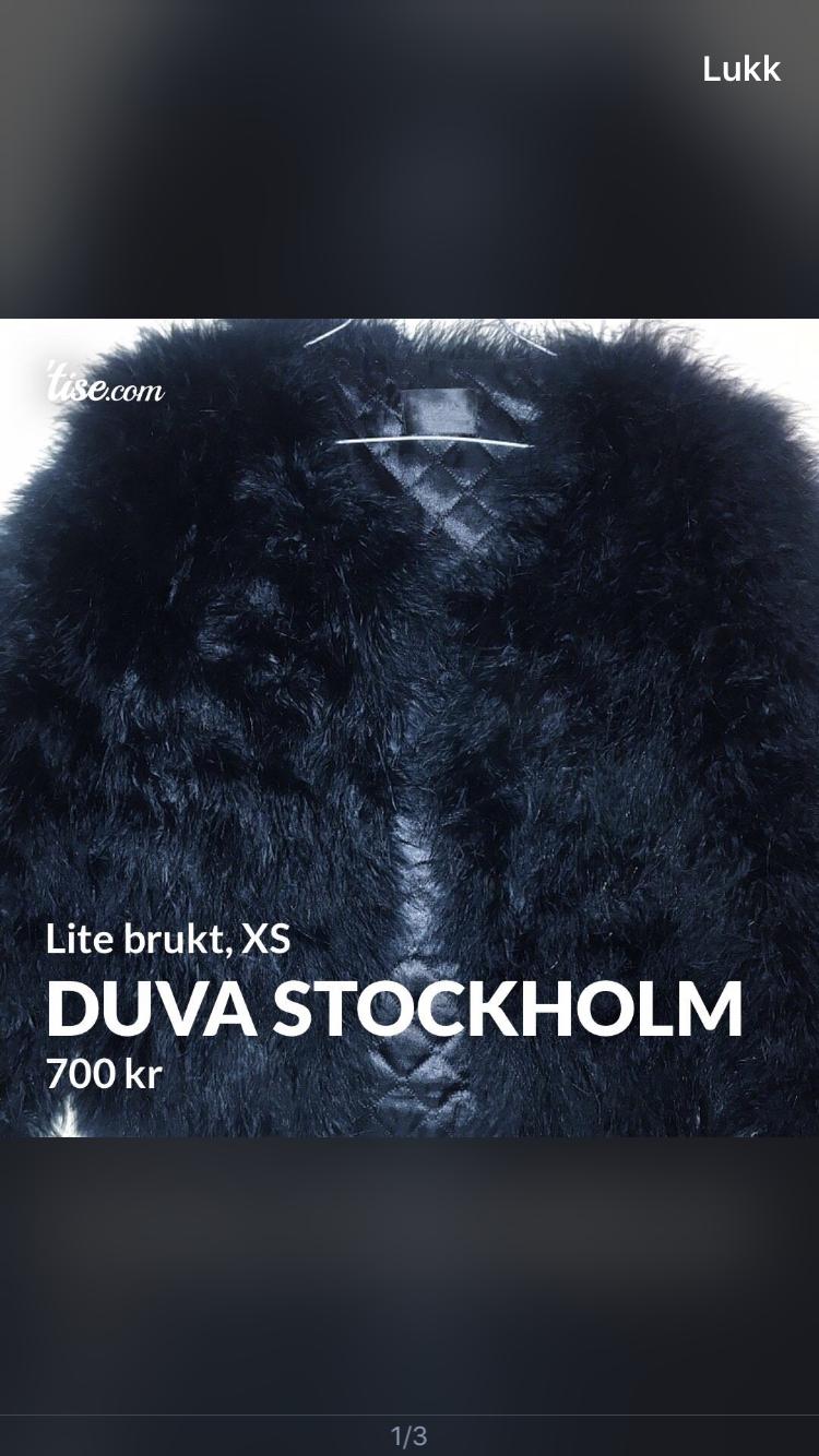Duva Stockholm fjærjakke