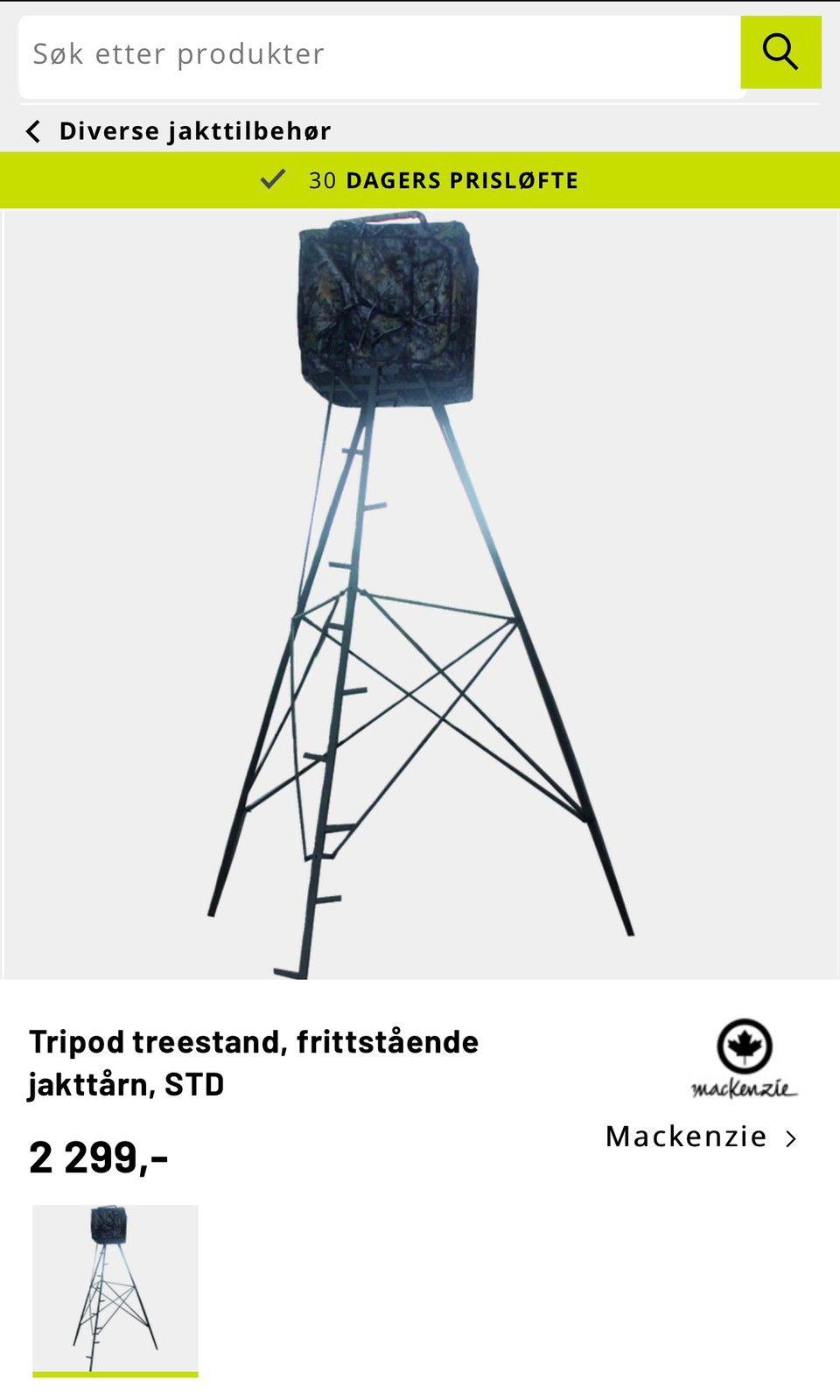2 stk Mackenzie Tripod camostol | FINN.no