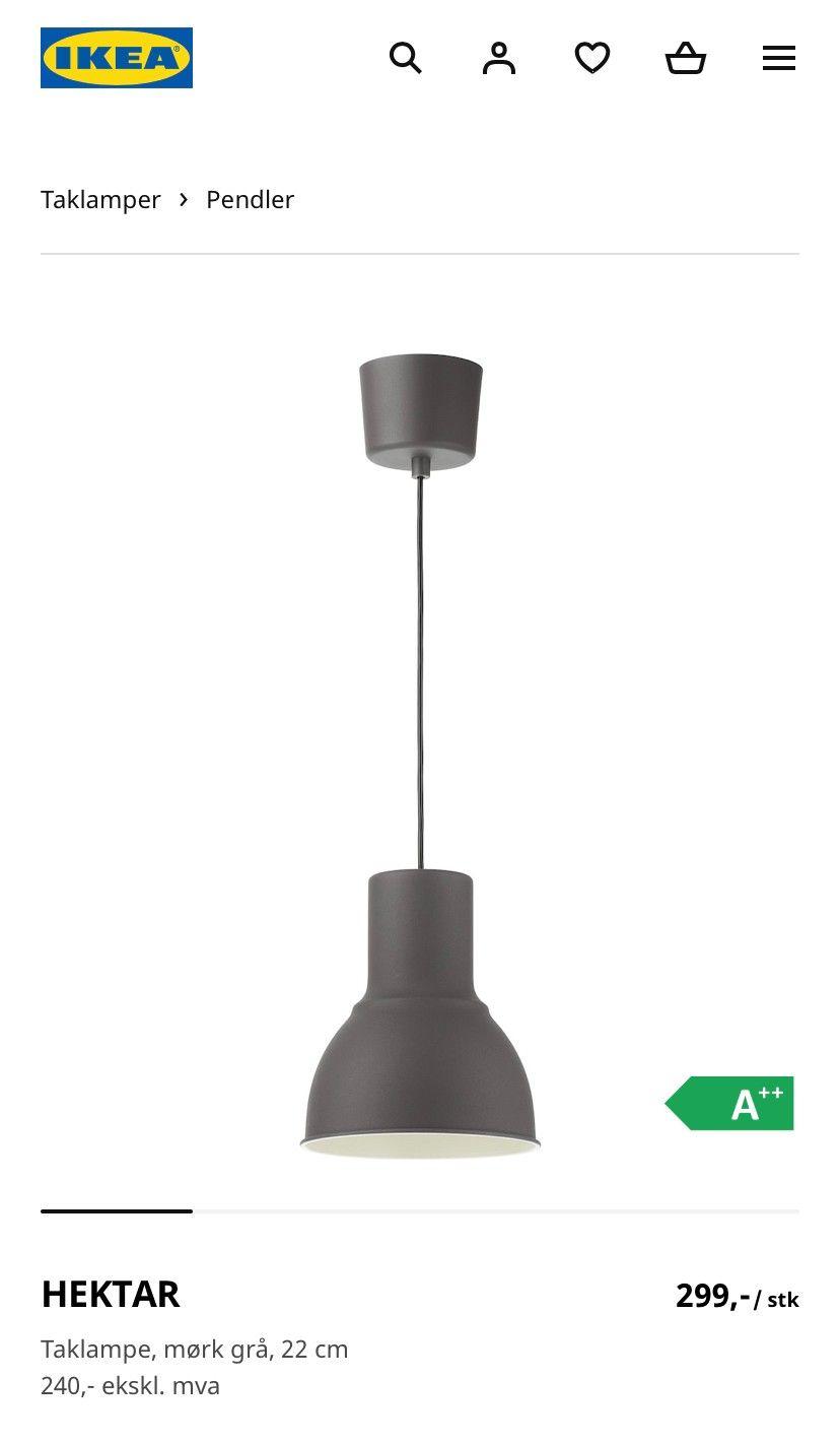 2 stk taklamper, store hvite fra Åhlens   FINN.no
