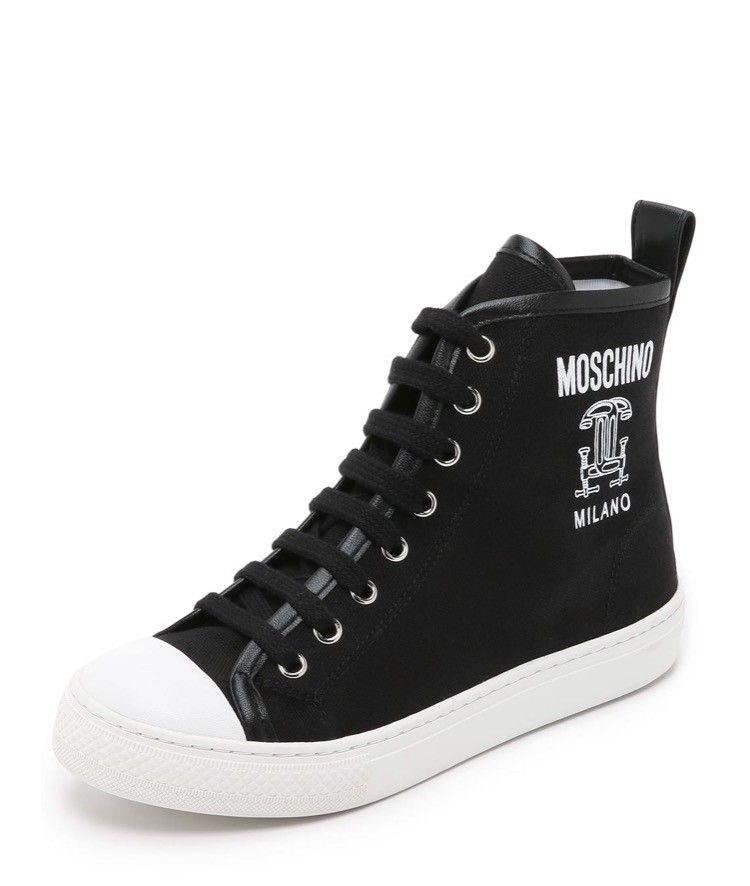 WHITE Sneakers with logo  Moschino  Sneakers - Sko Til Dame