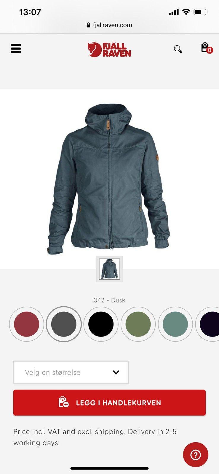 Helt ny fjellreven jakke | FINN.no