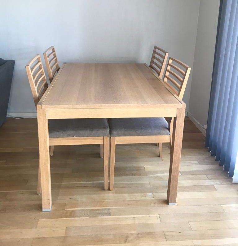 Spisebord med 4 stoler   FINN.no