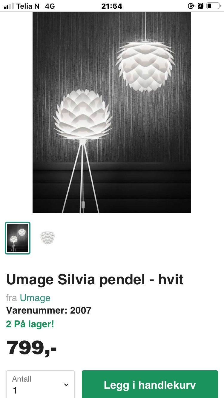 Taklampe Vita Silvia 2 stk | FINN.no