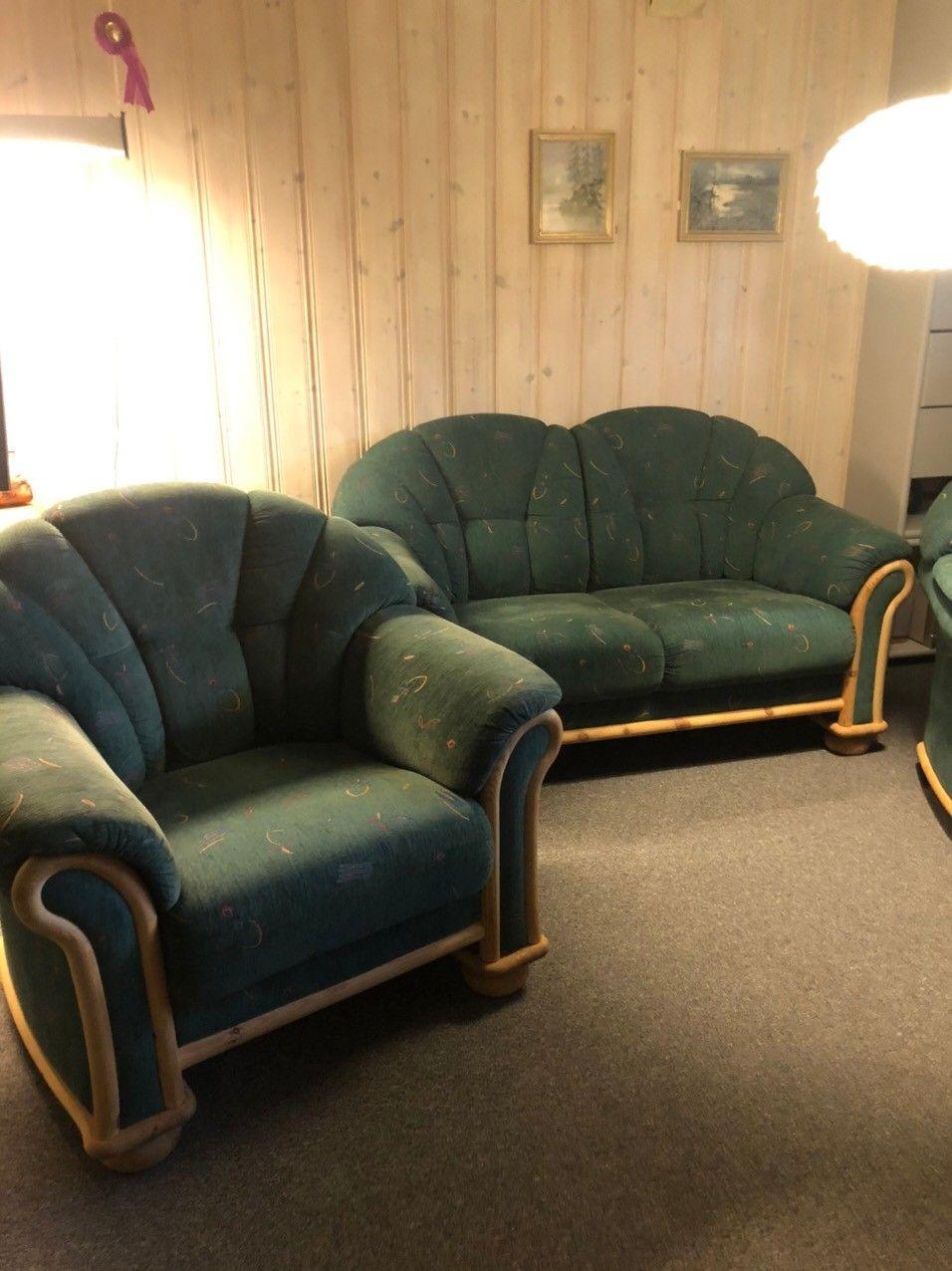 Sofa, 2 lenestoler og bord i bambus | FINN.no